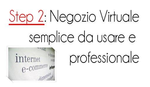 Step 2: Negozio Virtuale semplice da usar